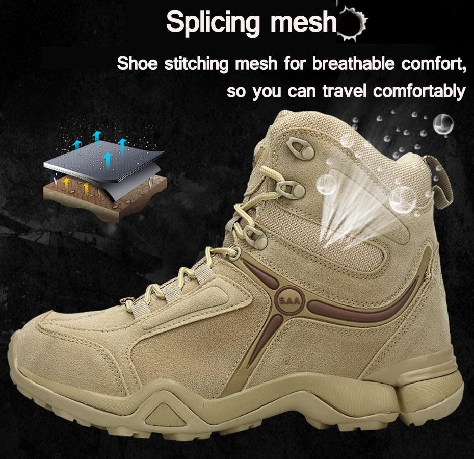 Cunge Outdoor High top Wanderschuhe Schuhe für männer Military Tactical Armee Stiefel winter Wüste Männer Kampf Stiefel Trekking Berg schuhe