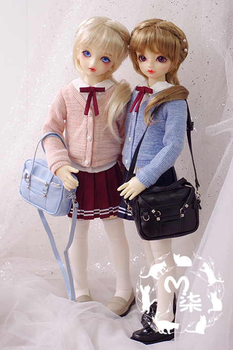 Sweater shirt school uniform 4-piece for BJD 1/4 Doll Clothes Accessories fashion sweater for bjd 1 3 1 4 uncle doll clothes accessories 4 colors