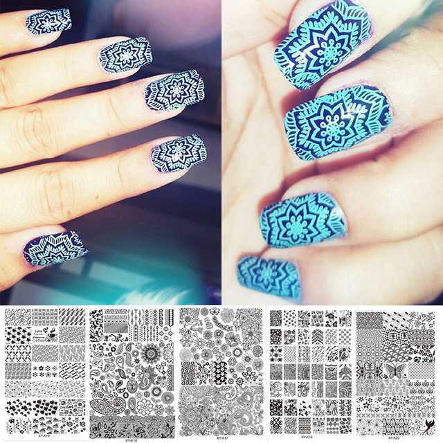 Hot Sale 15 Kinds Nail Painting Art Stamping Molds Stamping Plates ...