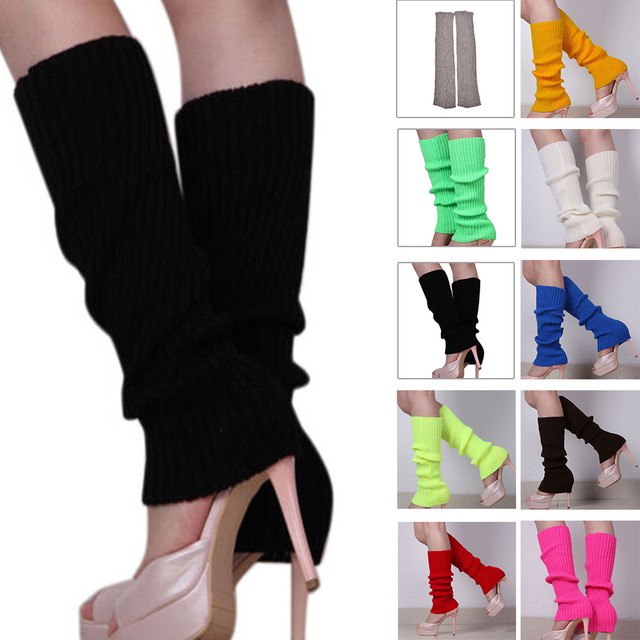 70a051cc5299b 10 Colors Winter Leg Warmers For Women Fashion Gaiters Boot Cuffs Woman Thigh  High Warm Knit Knitted Knee Socks Christmas Gifts-in Leg Warmers from ...