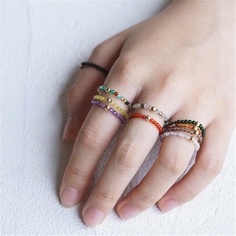 2019 ใหม่ Energy อัญมณี Healing Chakra แหวนอเมทิสต์หินคริสตัลแหวนผู้หญิง Balancing Fine เครื่องประดับขายส่ง