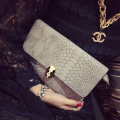 Crocodile Pattern Women Shoulder Bags Luxury Design Women Evening Bag Wristlet Clutch Envelope Bags Handbags bolsa feminina