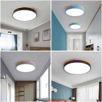 LED Ceiling Lamp Round 5cm Super Thin Surface Mounted Ceiling Light Living Room Bedroom Kitchen Macaroon Ceiling Hotel Lighting