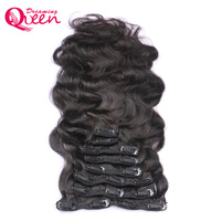Body Wave Clip In Human Hair Extensions Braziliaanse Weave Clips In Haar 120g Machine Made Remy Dreaming Koningin Haar