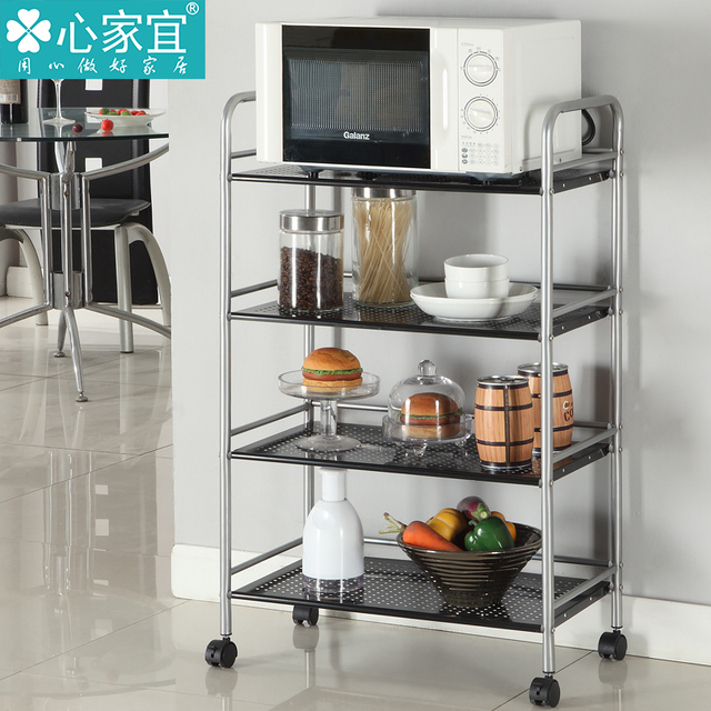 Kitchen Glove Wheeled Carts Microwave Shelf Storage Rack Shelves