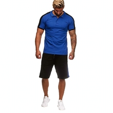 Summer Hot Sale Mens Sets T Shirts+pants Two Pieces Casual Tracksuit 2019 Shirt Gyms Fitness shorts men