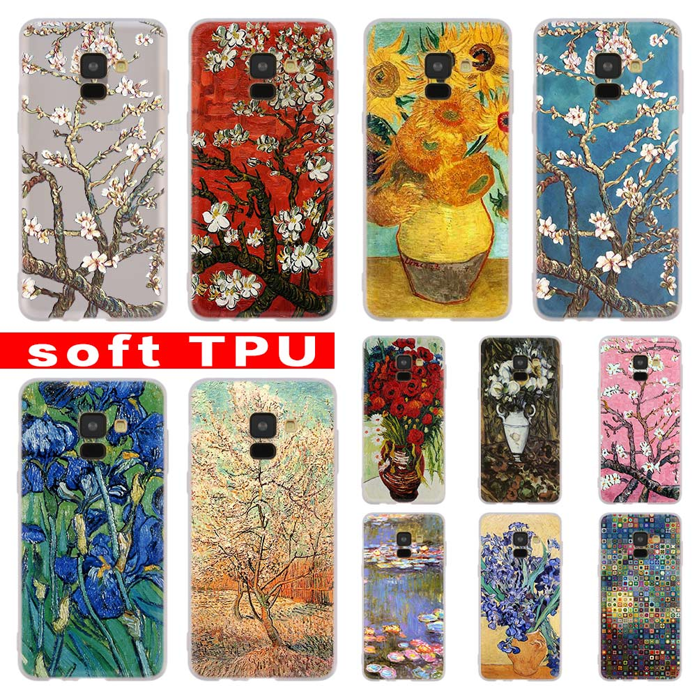 vincent van gogh almond blossoms <font><b>red</b></font> For <font><b>Samsung</b></font> Galaxy A10/A30/A40/A50/A70 A9 A8 A6 a7 2018 A3 <font><b>A5</b></font> <font><b>2017</b></font> 2016 <font><b>Case</b></font> Cover Soft image