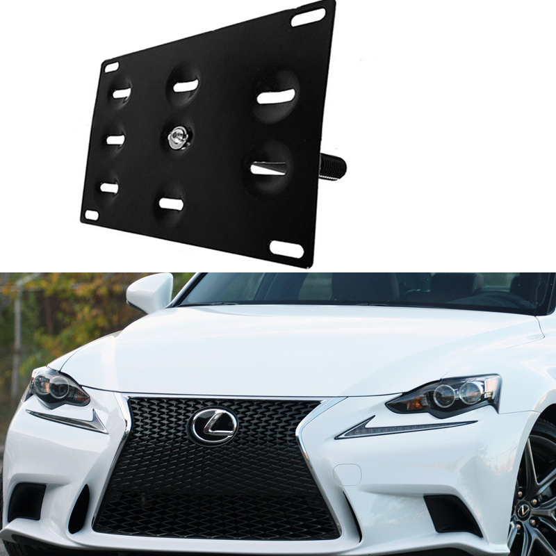 Bumper Tow Hook License Plate Mounting Bracket Holder For Lexus IS LS GS ES  RX NX
