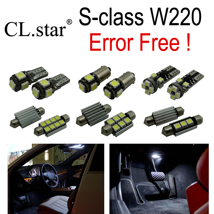 22pc X Error free LED Bulb Interior font b Light b font Kit For Mercedes For
