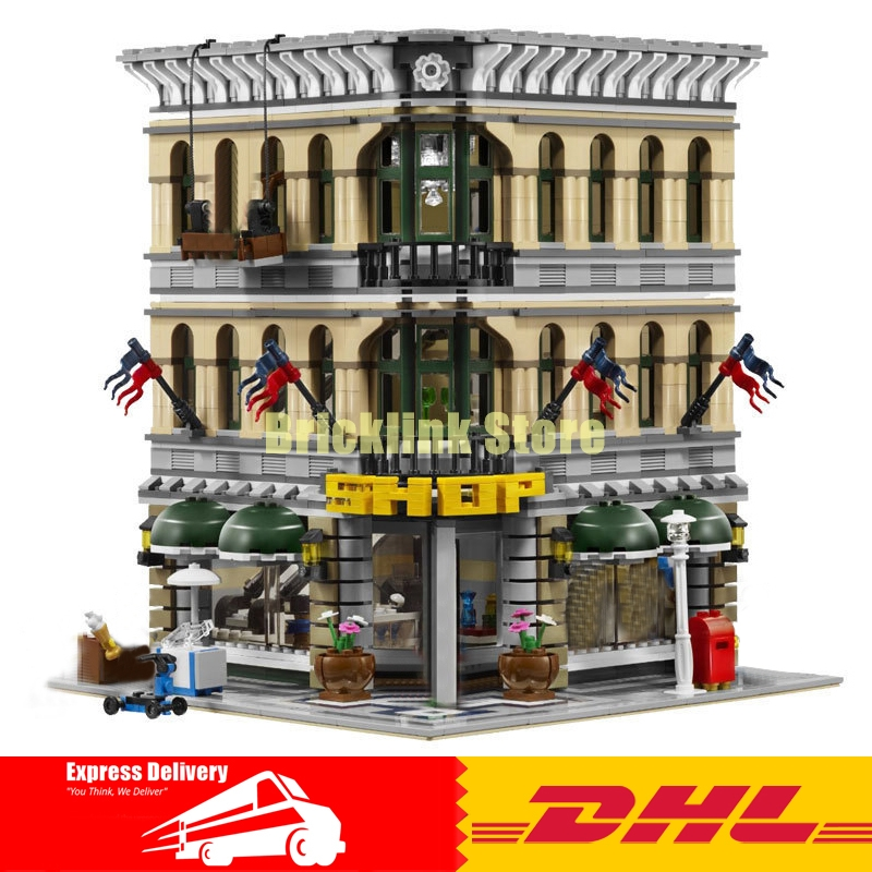 где купить  LEPIN 15005 2232pcs City Grand Emporium Model Building Blocks Funny Educational Lovely Gifts Kits Brick Toys Compatible 10211  по лучшей цене