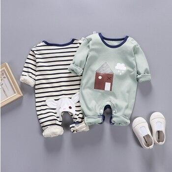 399fe2a49 Mameluco traje de cuerpo para bebé recién nacido bebé niño niños barato mono  de una pieza mono de manga larga primavera y otoño 0 3 6 9 meses