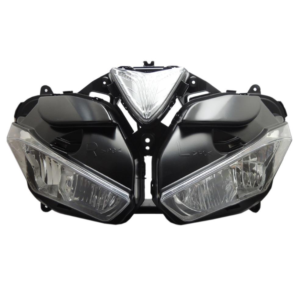 Мотоцикл фар аксессуары фар в сборе с лампой для Yamaha YZF r25 R3 yzf-r3 yzf-25 2015 2016 2017