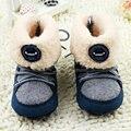 Bebê recém-nascido meninos prewalker macias botas de neve da pele do falso lace botas de neve sapato berço 0-18 m