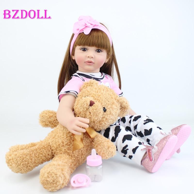 Membros do vinil de silicone 60cm reborn criança boneca 24