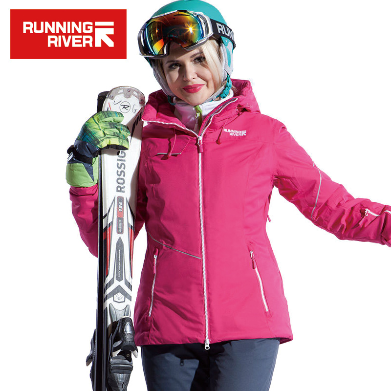 RUNNING RIVER Brand Women Ski Jacket Windproof Snow Winter Jacket For Women Winter Sports Jacket Outdoor Ski Coat #A4032 running river brand winter thermal women ski down jacket 5 colors 5 sizes high quality warm woman outdoor sports jackets a6012