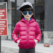 10 Color Down Jacket for Girl 2016 New Winter Coat Girl Children's  Jackets Kids for Teenage Girls Coats Thin Section 2-16 Years