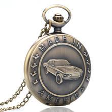 Старинные карманные часы дизайн сделано в Америке бронзовые