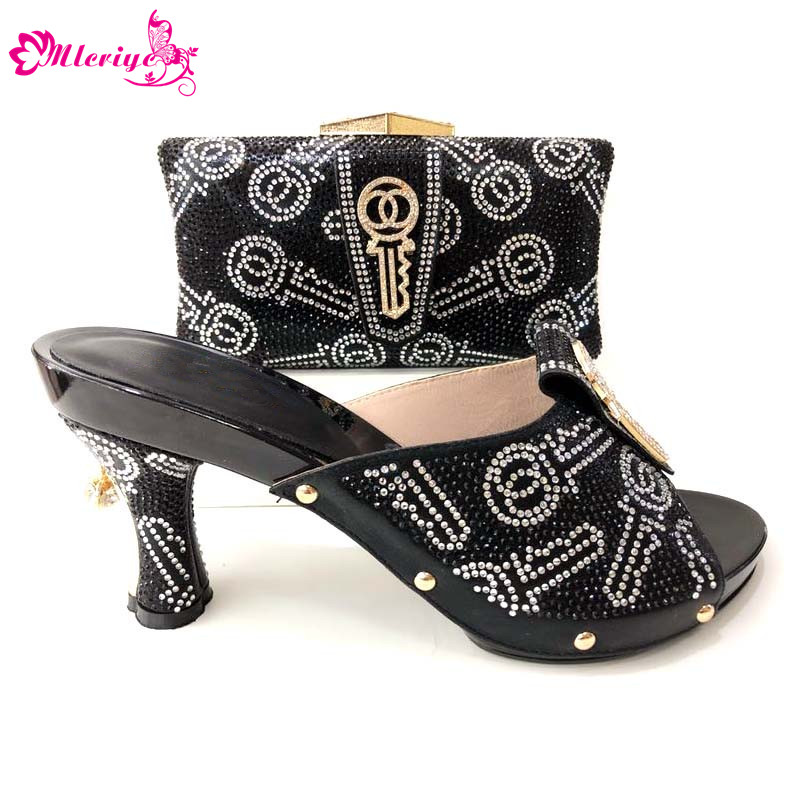 Large Size New Arrival African Shoes and Matching Bags Italian Shoe and Bag Set for Party In Women Nigerian Women Wedding Shoes new products african shoes and bag matching set italian style woman party shoes and bags for wedding dress size 38 42 ja10 5