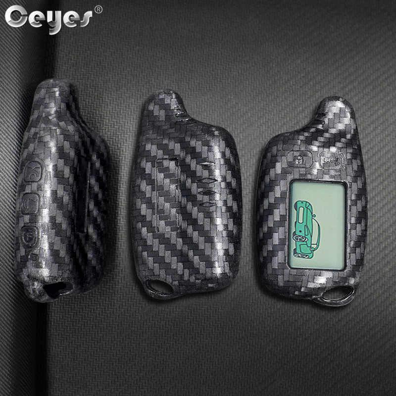 Ceyes カースタイリングアクセサリーキーカバー自動保護リモート Fob キーホルダーシェルトマホーク TW 9010 9030 9020 液晶 TZ 9030