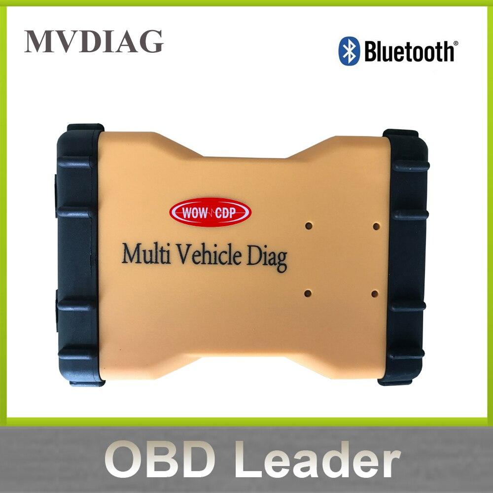 Цена за Новые МВД с Bluetooth Multi автомобиля Diag OBD2 сканер WOW VD-TCS Pro Plus multidiag Pro mvdiag 2015.3 Бесплатная Keygen отправить!