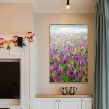 canvas oil painting Hand Painted modern Flower sea Picture On Canvas Modern Painting Handmade Artwork Living Room Wall Paintings