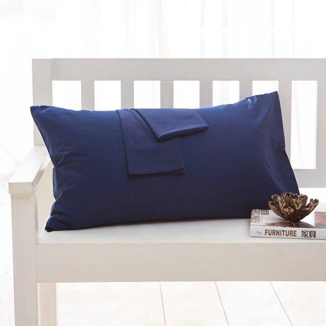 Cotton 2pcs 1pair Solid color Pillow Case Pillowcase Pillow