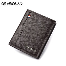2019 Hot Sale Fashion Men Wallets Thin Male Wallet Card Holder Multifunction purse male clutch top quality Wholesale price(China)