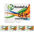 Rondaful tarjeta de memoria de la capacidad plena 128 gb tarjeta sd micro 16 gb/32 gb/64 gb tarjeta microsd class10 de alta velocidad para teléfonos mp3 tarjeta de memoria