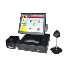 touch screen epos system restaurant cash register all in one pc with card reader 80 mm printer Retail restaurant cash receipt