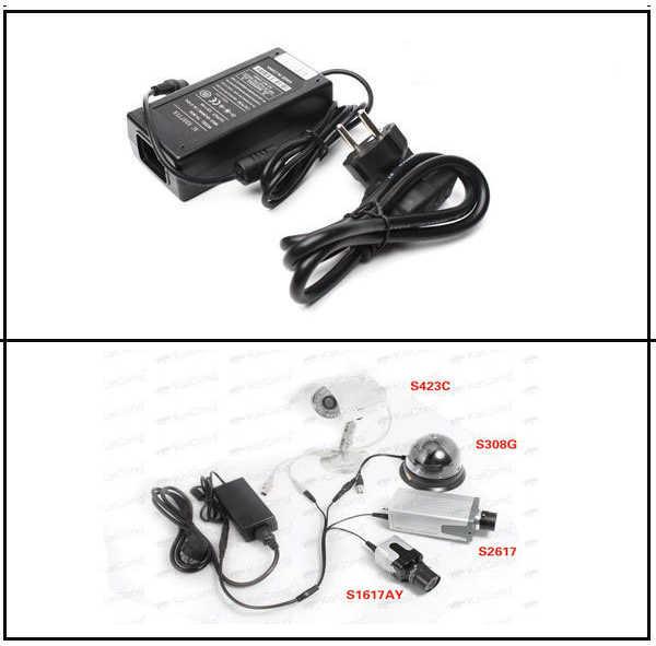 Haute qualité 12V6A EU adaptateur secteur 4 sorties AC/DC adaptateur 100 V-240 V convertisseur adaptateur alimentation prise 1 à 4 mâle répartiteur de puissance