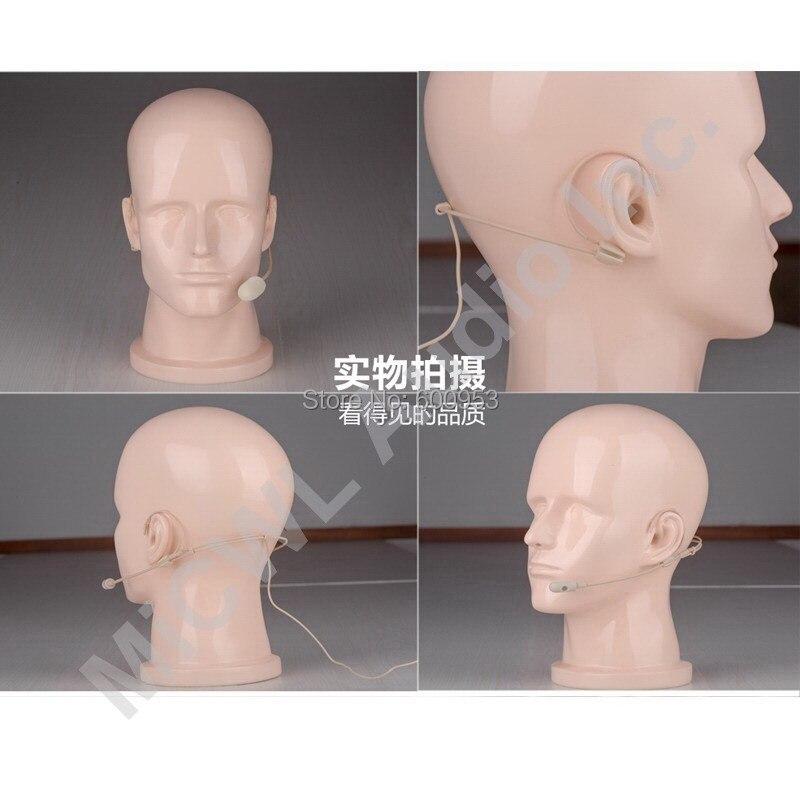 Casque d'écoute cardioïde à double tête pour casque pour Sennheiser Shure audio-technica MiPro-connecteur de sécurité aérienne