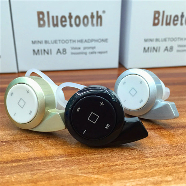 Mini Style Wireless Bluetooth Headphone Mini A8 In Ear V4 0 Stealth Earphone Phone Headset Handfree