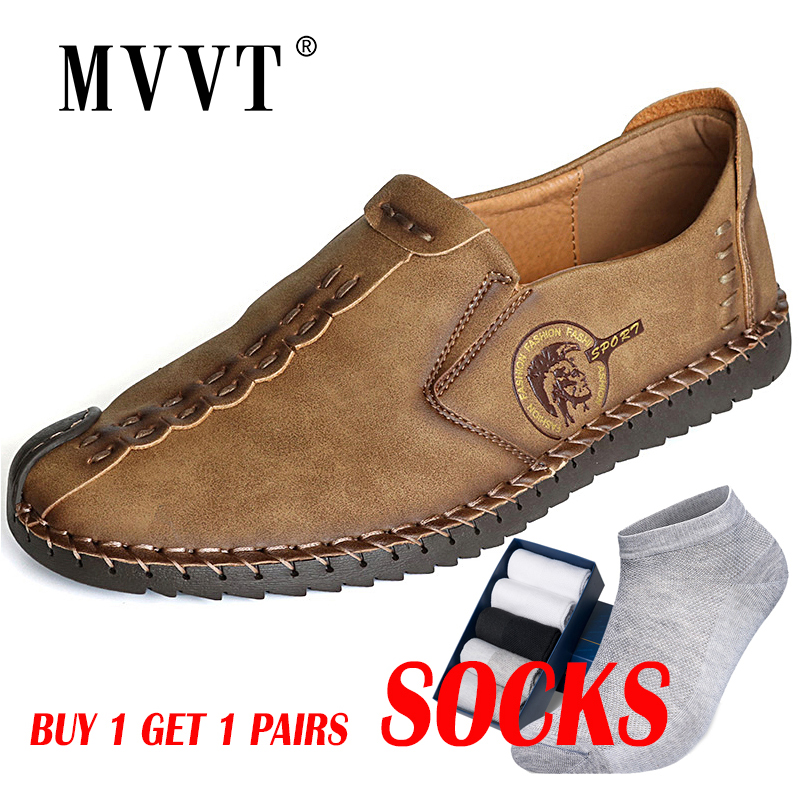 Shoes Flats Loafers Men Classic Comfortable Quality Split Plus-Size Hot-Sale