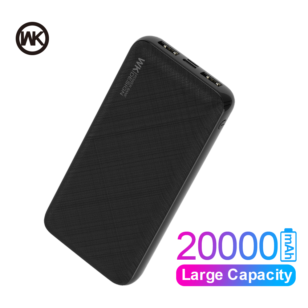 WK 20000mAh Power Bank Mini Portable Charger Powerbank For IPhone Huawei Xiaomi Huawei External Battery Real Capacity Poverbank