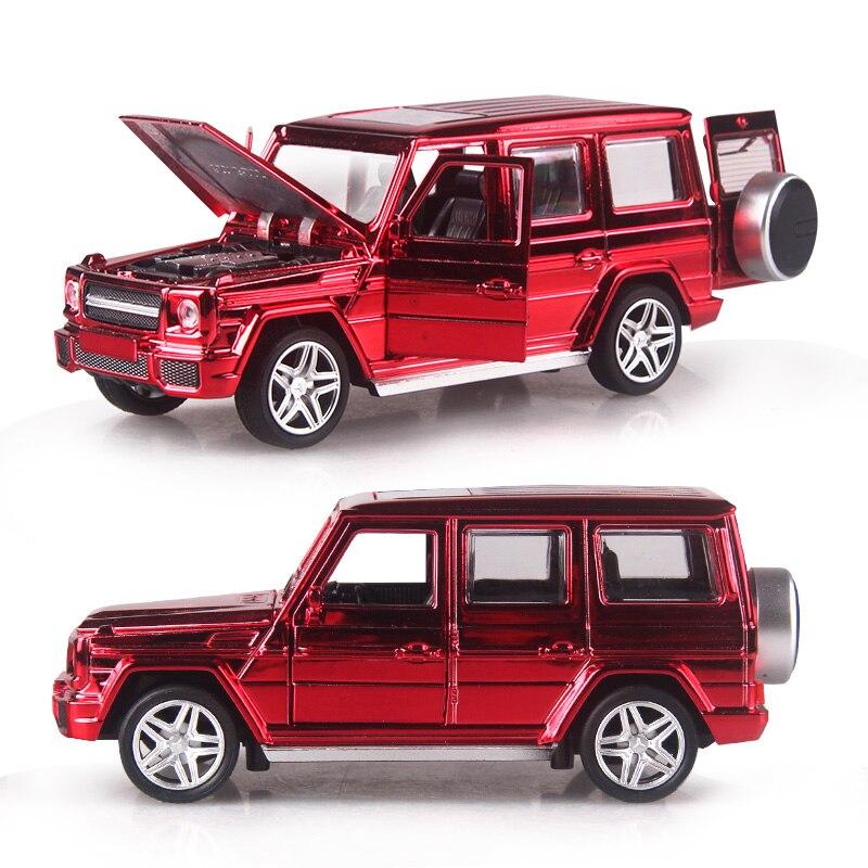 2 couleurs 15.5 CM plaqué or alliage voitures G65 Super voiture tirer arrière modèle moulé sous pression jouet avec simulation de lumière son cadeau jouet pour les garçons