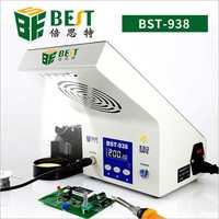 BEST938 антистатические температура паяльная станция с инструмент для курения светодио дный освещения термостат Электрический паяльник