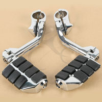 Long Mount 1 1 4 Bar Highway Foot Pegs Footrest For Harley Electra Road King Street