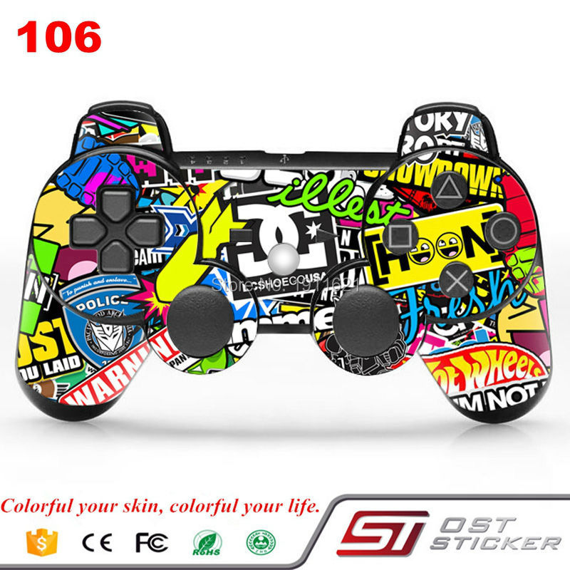 New Arrival Hoonigan Skin For PS3 Slim And Fat Controller Decal Stickers For Playstation3