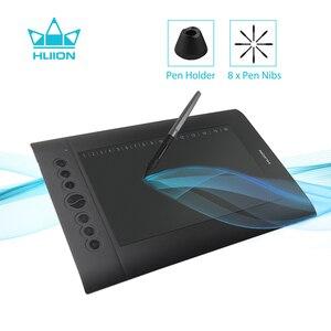 Image 1 - Huion H610 פרו V2 דיגיטלי גרפי טבליות אמן עיצוב ציור Tablet הטיה פונקציה סוללה משלוח עט טבליות עבור Win ו mac