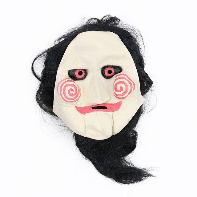 coût modéré mode de premier ordre plus près de Film Saw massacre À la Tronçonneuse Jigsaw Puppet Masques Latex Creepy  masque complet Effrayant prop unisexe partie cosplay fournitures Halloween  ...