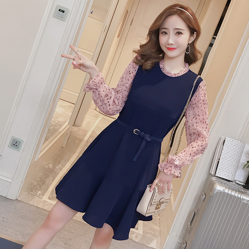 KINE PANDA Maternity Dresses Clothes Pregnancy Dress for Pregnant Women Autumn Winter Clothing Postpartum Lactation Dress