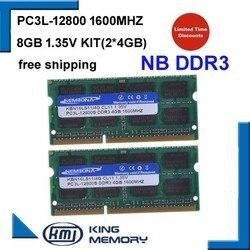 KEMBONA nowy Laptop pamięci RAM DDR3 8 GB zestaw (2*4 GB) 12800 S PC3L 1.35 V niskiego mocy 1600 MHz 204-pin SODIMM dożywotnia gwarancja