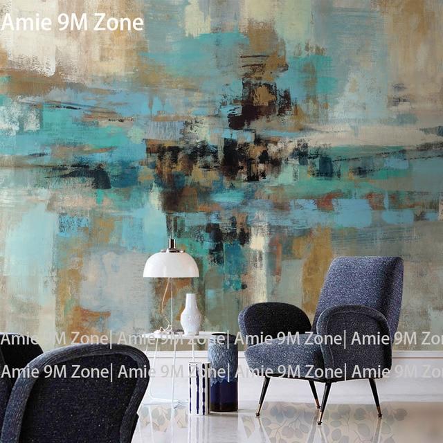 Tuya Kunst kunst wandbild tapete Hand bemalt abstrakten vintage blau ...