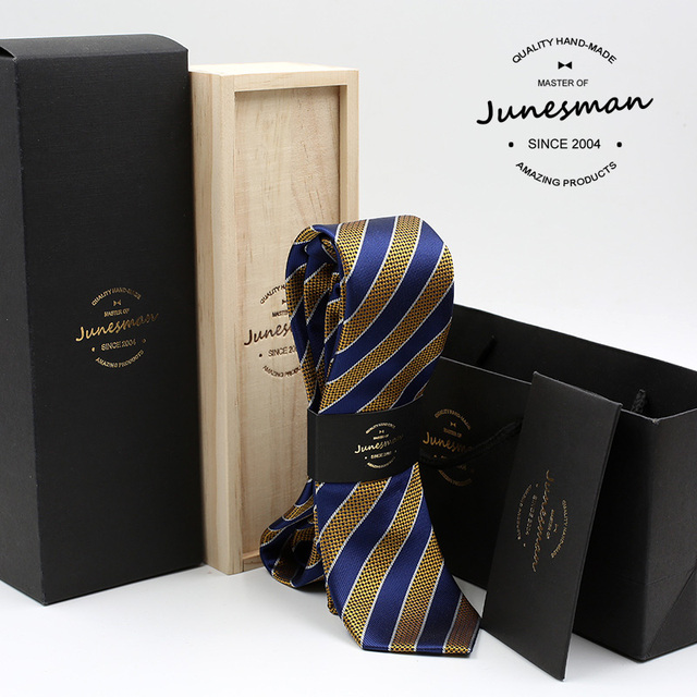 2016 new boy friend formal business necktie man striped kravat male wedding neckwear gent mariage neck tie husband gift with box