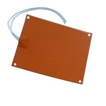300x525x1,5 мм, силиконовая резина подогреватель коврик с 220 В 800 Вт 100 к термистор клей назад Четыре отверстия в уголке