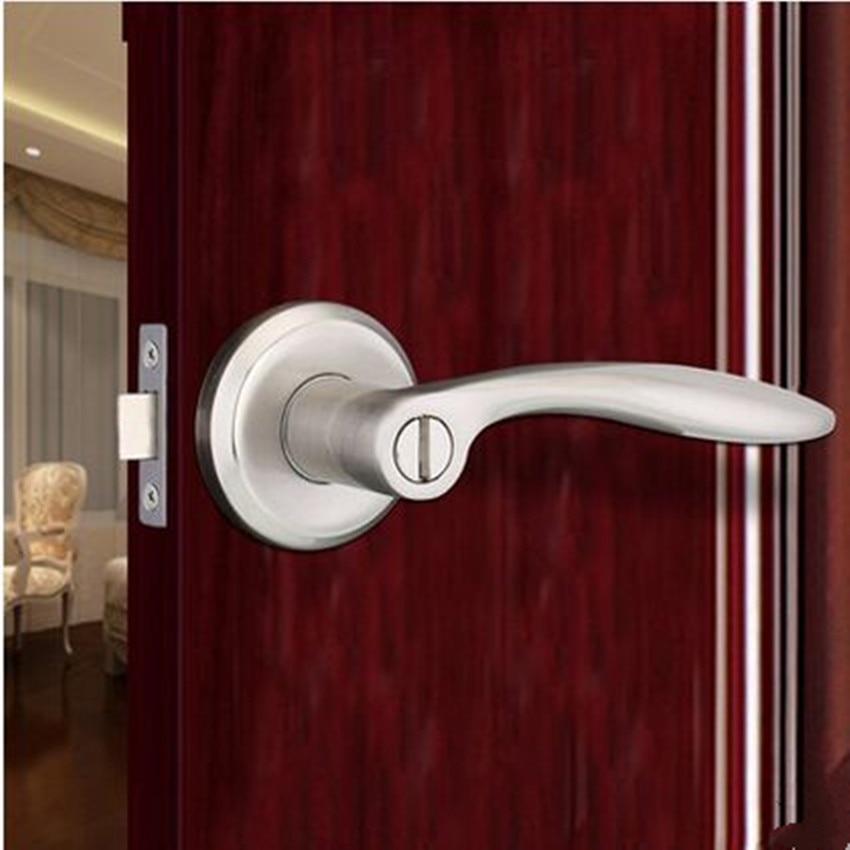 Serrure de porte intérieure de salle de bains serrure de porte latine serrure cylindre sans clé langue unique moderne simple sans serrures à clé