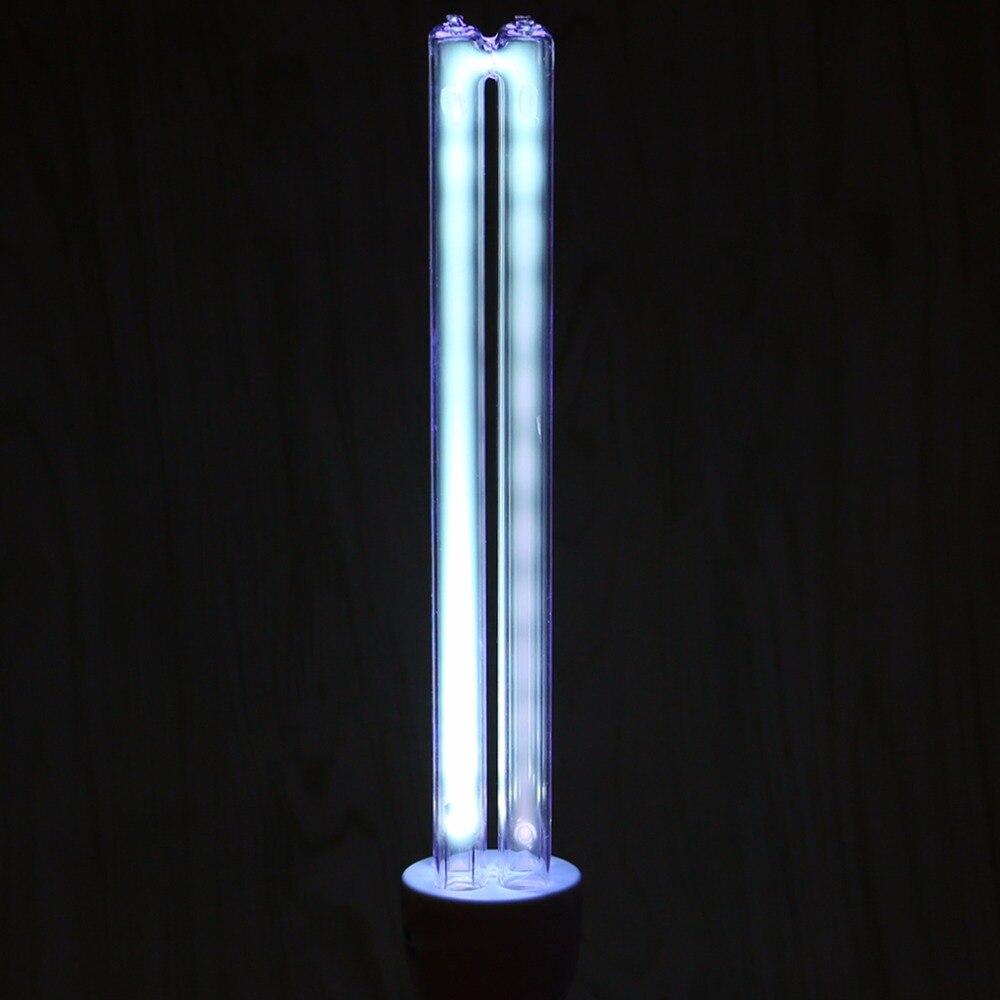 HNGCHOIGE  Quartz Glass 20W E27 AC 220V UV Light UVC Ultraviolet Disinfection Sterilization Lamps No Ozone #1A31096#