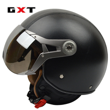 GXT helmet vespa Retro motorcycle helmet  Harley casque moto 3/4 open face motocross helmet visor fox motocross