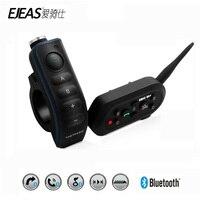 Ejeas E6 плюс мотоциклов домофон 1200 м коммуникатор Bluetooth шлем шлемофон VOX с пультом дистанционного управления Управление для 6 Riders