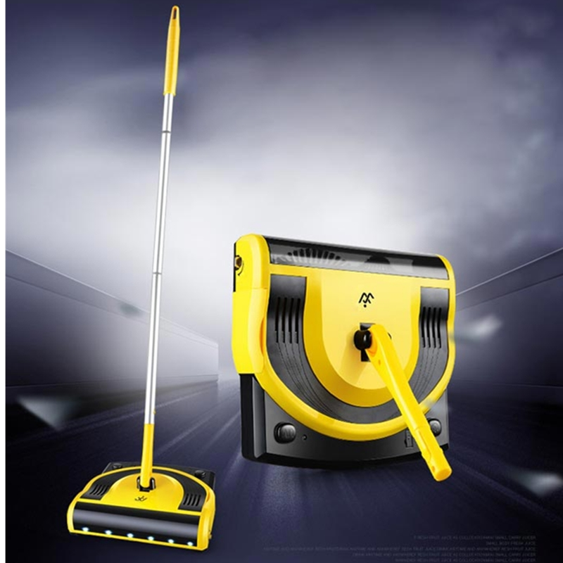 W-S058 Handle Push Type Cordless Electric Sweeping Robot Smart Automatic Cleaner Drag Mop Deep Cleaning For Home Cleaner Machine w s018 2 in 1 swivel cordless electric robot cleaner